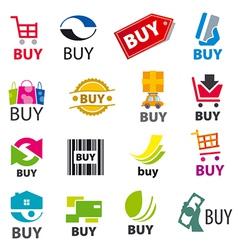 big set of logos buy vector image