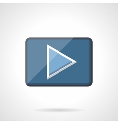 Blue play button flat icon vector image