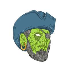 Buccaneer pirate grime art vector