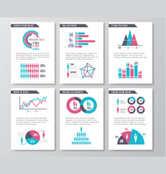 business infographic brochure pages vector image