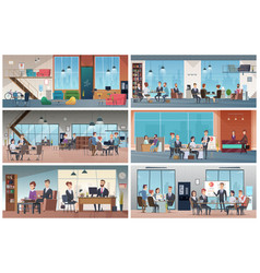 business offices professional business interiors vector image
