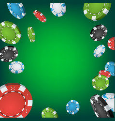 casino winner background falling explosion vector image