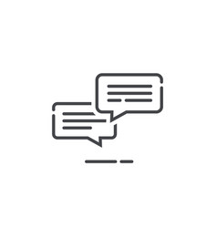 Chat messages icon notification vector