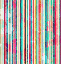 colored lines seamless pattern with blots effect vector image