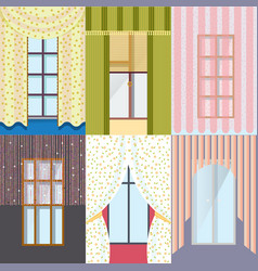 Colorful classic windows collection vector