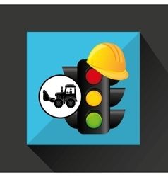 Construction truck concept traffic light helmet vector