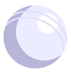 cricket white ball icon cartoon style vector image