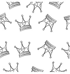 Crown pattern style vector