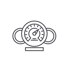dashboard line icon concept dashboard vector image