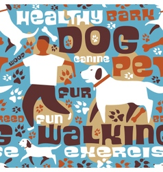Dog walking tile vector image