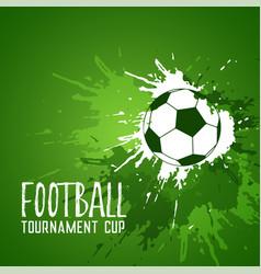 Football grunge green ink splatter background vector