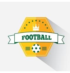 Football or soccer emblem vector image