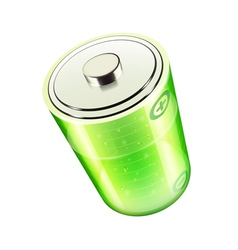 green battery icon vector image