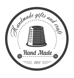 Handmade gifts and craft shop isolated monochrome vector