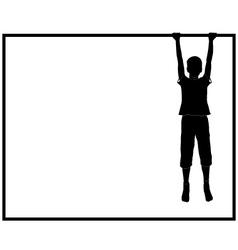 Hanging boy vector