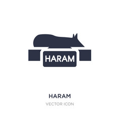 Haram icon on white background simple element vector
