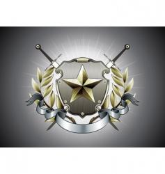 heraldic shield vector image