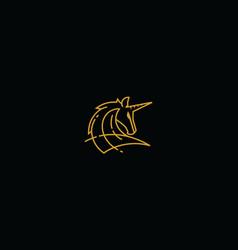horse line art logo icon vector image