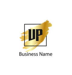 Initial letter vp logo template design vector