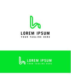 letter l icon design and elegant typographic vector image