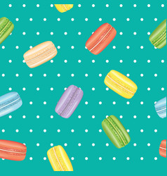 macarons seamless pattern vector image