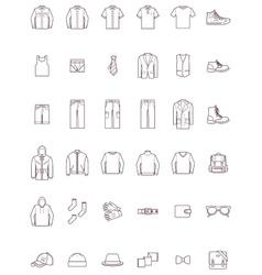 Men clothes set vector