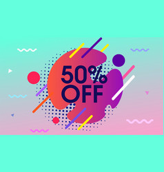Modern background with sale design vector