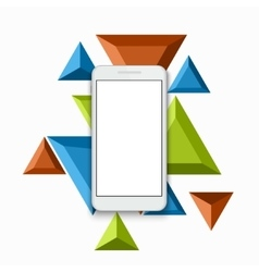 modern smartphone triangular background vector image