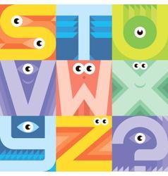 Monster font S Z vector