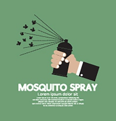 Mosquito Spray In hand vector image