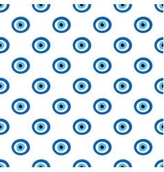 nazar amulet blue evil eye signs symbols pattern vector image