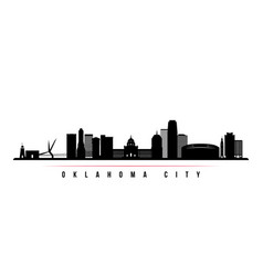 Oklahoma city skyline horizontal banner vector