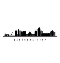 oklahoma city skyline horizontal banner vector image