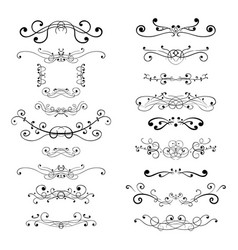 ornament decorations divider elements vector image