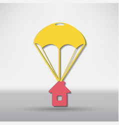 Parachute icon design vector