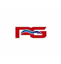 PG letter logo vector image