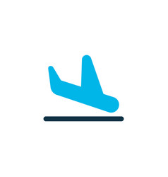 plane landing icon colored symbol premium quality vector image