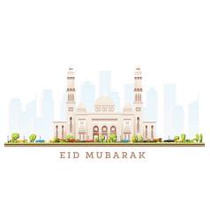 Ramadhan kareem eid mubarak greetings vector