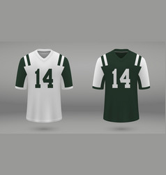 realistic american football jersey vector image