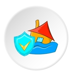 Safety in a flood icon cartoon style vector