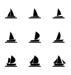 sailboat icon set vector image