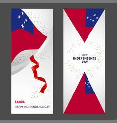 Samoa happy independence day confetti celebration vector