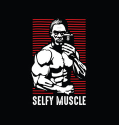 self picture take picture gym man vector image