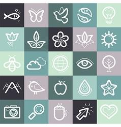 set design elements and symbols vector image