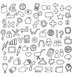 simple icons vector image