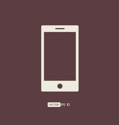 smartphone icon mobile phone logo vector image