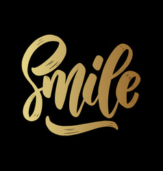 smile lettering motivation phrase for poster card vector image