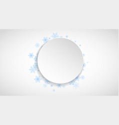 Snowflakes frame on white paper background vector