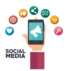 social media isolated icon design vector image