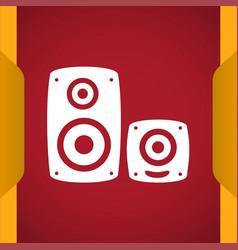 Speakers icon vector